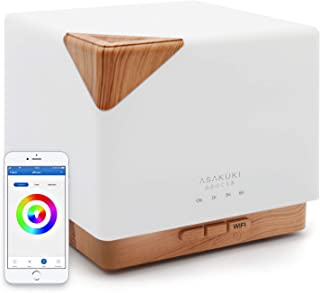 ASAKUKI Smart Wi-Fi Essential Oil Diffuser- App Control Compatible with Alexa, 700ml..