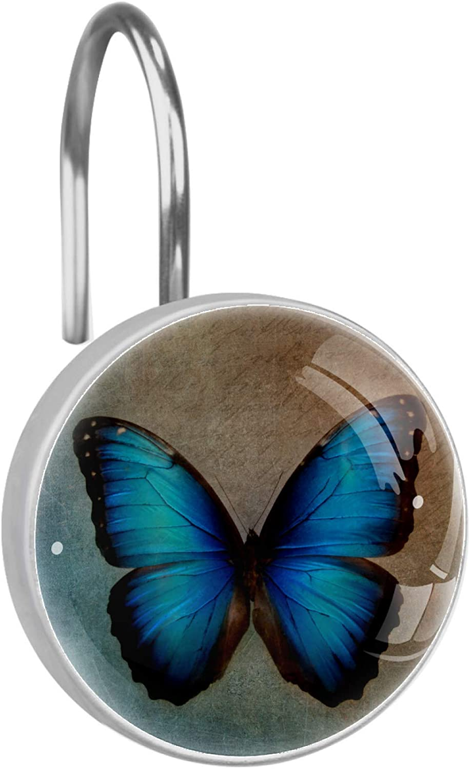Japan Maker New JStar DIY Vintage Blue Butterfly Shower Crystal We OFFer at cheap prices Curtain Glass Ho