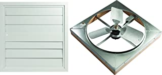 LL BUILDING PRODUCTS WHFS24M Master Flow Direct Drive Whole House Fan, 4500 Cfm, 1/4 Hp, 3 Blade, 24