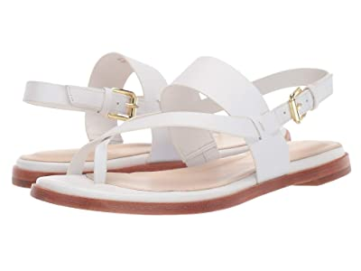 Cole Haan Anica Thong Sandal (Optic White Leather) Women