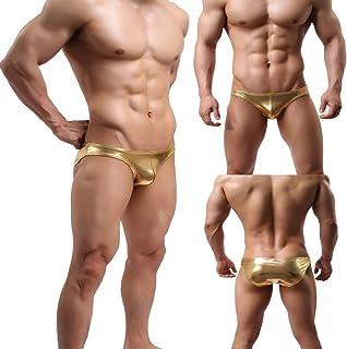 e1901092c0ca DDA Mens Sport Swimwear Gold Bikini Swimsuit Sexy Underwear Trunks Briefs