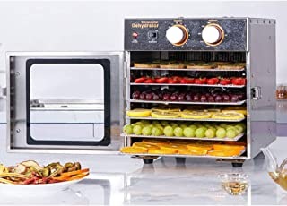 YUNTAO Food dehydrator, Fruit Dehydrator, Electronic Rotary Timing Temperature Control Stainless Steel 6 Layer Tray Commer...