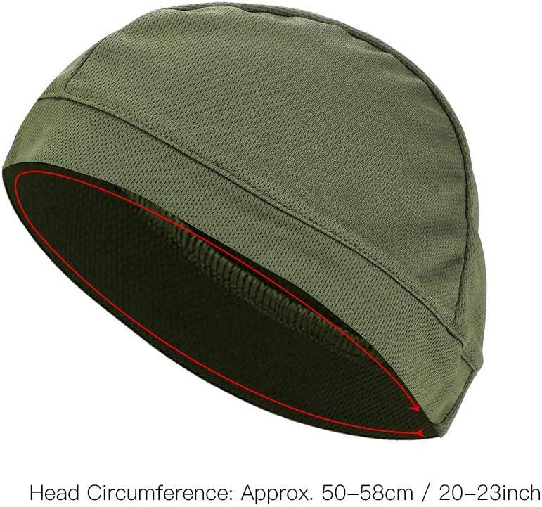 Outdoor Activities 5 Colors Unisex Breathable Helmet Liner Cap Cycling Cap Soft Fast Dry Moisture-Wicking Lightweight for Motorcycling