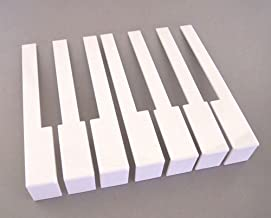 German White Piano Keytops, Full Set of Piano Keytops with Fronts for Replacement