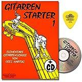 Gitarrenstarter Band 1 - Gitarrenschule mit CD für Anfänger von Cees Hartog