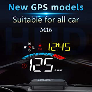 GoolRC Display de HUD para carro, GPS Head Up Display, para-brisa, projetor com velocidade, relógio digital, aviso de velo...