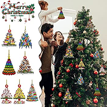 Pisexur Merry Christmas Ornaments Cute Truck Xmas Hanging Pendant