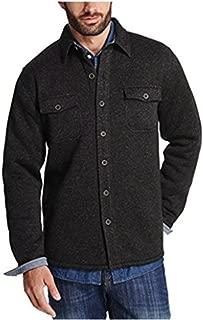 Mens Sweater Fleece Shirt Black (Black, XL)