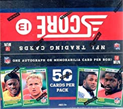 1 (One) Box - 2013 Score Football Jumbo Box (10 Packs per Box) - Possible Geno Smith, E.J. Manuel, Kiko Alonso, Giovani Bernard, and/or Eddie Lacy Rookie Cards!!!