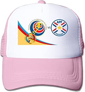 Artist Costa Rica Vs Paraguay Adult Nylon Adjustable Mesh Hat Hats RoyalBlue One Size Fits Most