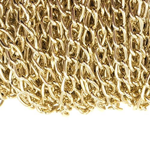 Dcatcher Aluminum Curb Chain Link in Bulk for Necklace Jewelry Accessories DIY Making 11 Yards 4.5mm Width, KC Gold