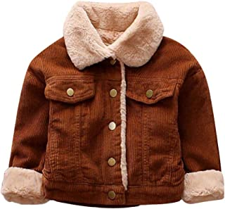 Leegor Baby Toddler Baby Kids Bomber Jacket, Girls Boys Winter Notch Collar Coat Cloak Thick Warm Outerwear Clothes