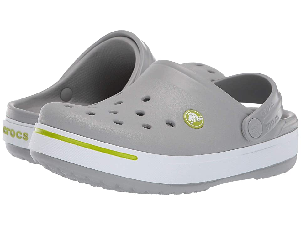 Crocs Kids Crocband II (Toddler/Little Kid) (Light Grey/Volt Green) Kid