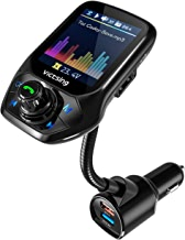 """【Nouveau】 VicTsing Transmetteur FM Bluetooth, Adaptateur Voiture avec réglage Automatique de FM Fréquence, 3 USB Inclus QC3.0 Charge Rapide, 1.8"""" Ecran Couleur Mains Libre"""