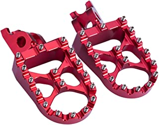 Hopider CNC Wide Foot Pegs MX for Honda CR125/250 02-07, CRF150R 07-19, CRF250R 04-19, CRF250X 04-19, CRF450R 02-19, CRF450RX 17-19, CRF450X 05-19 CRF250L/M 12-18, CRF250RALLY 17-18,Red