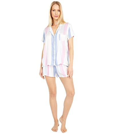 Splendid Woven Shortie PJ Set (Blue Island Stripe) Women