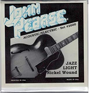 John Pearse 2600 NICKEL WOUND JAZZ ACOUSTIC/ELECTRIC GUITAR STRINGS