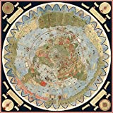 1587 Flat Earth Map Of The World By Urbano Monte - 20 Inch by 20 Inch Laminated Poster With Bright Colors And Vivid Imagery-Fits Perfectly In Many Attractive Frames