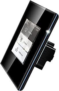 Smart Home Application/Voice Control LCD Touch Smart Lichtschakelaar, Geen Hub vereist, Draadloze Gordijnschakelaar Lichts...