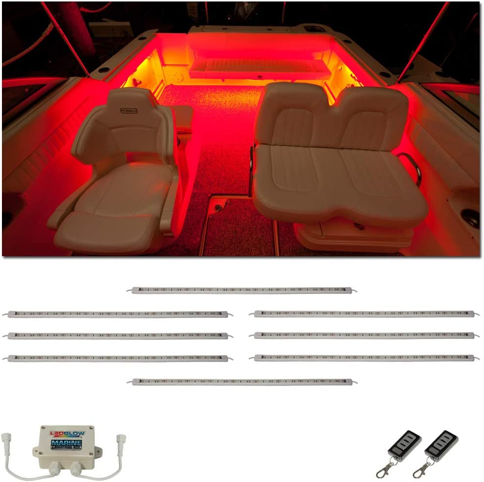 LEDGlow 8pc Million Color LED Boat Large discharge sale Accent Deck NEW before selling ☆ Li Marine Cabin