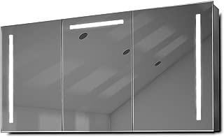 DIAMOND X COLLECTION Cali LED Bathroom Mirror Cabinet with Demister Pad, Sensor & Shaver k378