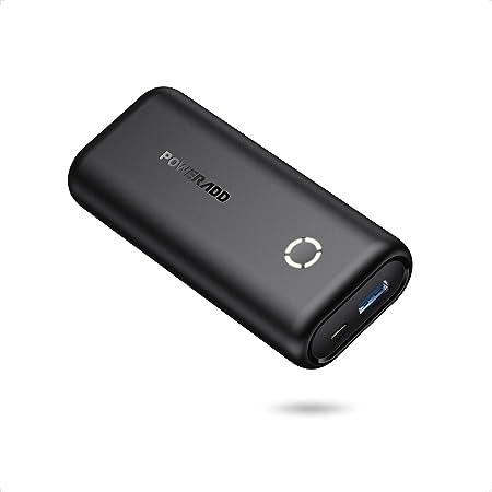 POWERADD EnergyCell Mini Power Bank 10000mAh Cargador Portátil Batería Externa con Salida de 2.4A Carga rápida para iPhone,Samsung,Xiaomi,Huawei,Tablets y más Dispositivos-Negro