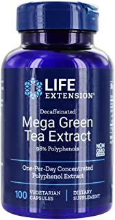 Life Extension - Mega Green Tea Extract (Decaffeinated) - 100 Vegetarian Capsules