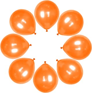 Maylai 50 Pack Orange Pearl Balloons 12 Inch(Thicken 3.2g/pcs) Round Helium Pearlized Balloons for Wedding Birthday Christ...