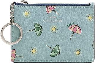 Coach Coated Canvas Mini ID Skinny in Beach Umbrella Print Seafoam Multi F73466