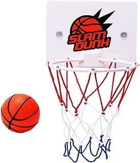 "Transer- Mini Basketball Hoop with Ball & Pump, 6.4""x4.7"" Backboard, Basketball Decompress Game Gadget Indoor Toy Desktop Game Home Decor for Kids (Multicolor)"