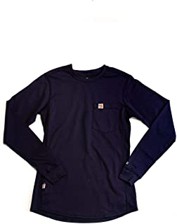 Flame Resistant Womens Force Cotton Long Sleeve Crew T Shirt