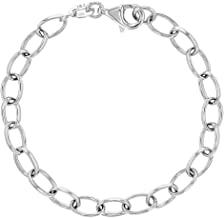 925 Sterling Silver Charm Bracelet Classic for Girls Kids Children 6
