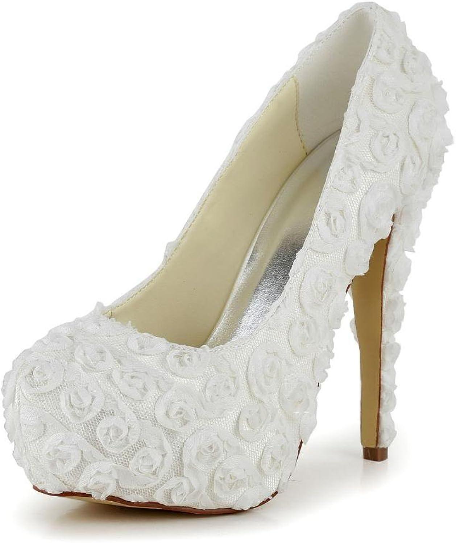Jia Jia Women's Bridal 2018D Peep Toe Hight Heel Satin Wedding shoes