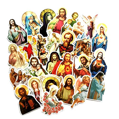 LSPLSP Jesus Stickers 68Pcs/Lot Christ The Savior Cartoon 3D Bubble Stickers Classic Kids Toys Gift Jesus' S Blessing