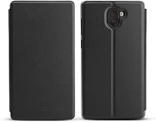 Maxku Leagoo KIICAA MIX ケース 5.5インチ 超軽量 PUレザー スタンドカバー 手帳型 保護ケース (ブラック)