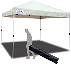 Goutime 10x10Ft (3m*3m) Easy Pop Up Canopy Tent Gazebo Marquee Commercial Tents Portable Foldable Instant Shelter with Wheeled Carry Bag, Events Beach Market Waterproof