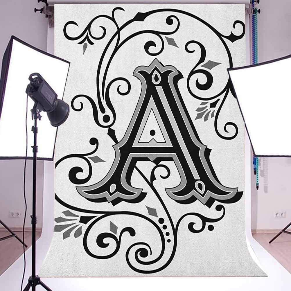 8x12 FT Fleur De Lis Vinyl Photography Backdrop,Shabby Chic Style Damask Pattern with Vintage Kitsch Geometric Diamond Lines Background for Baby Shower Bridal Wedding Studio Photography Pictures