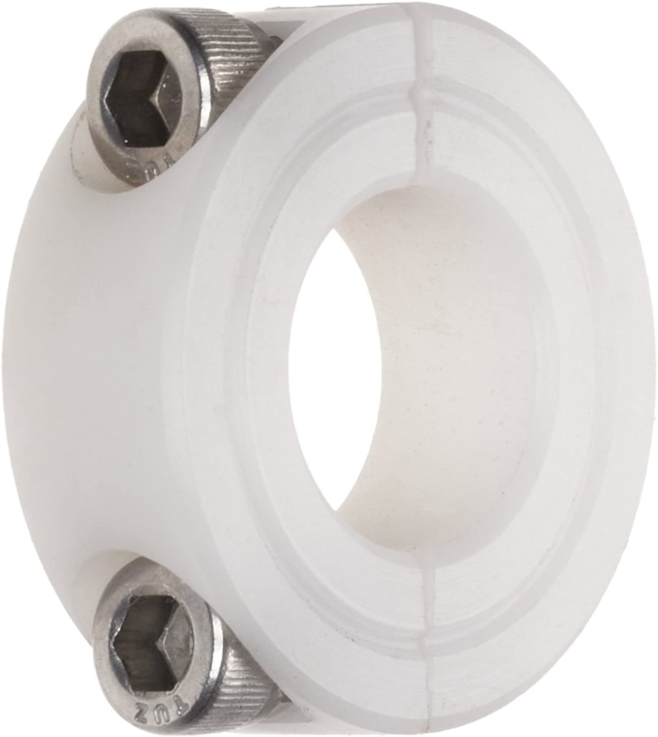 Climax Metal N2C037 Two Piece Clamping Collar, Nylon, 3 8  Bore, 7 8  OD, 11 16  Width