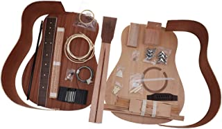 Baosity DIY Acoustic Guitar Kit 41 Inch Spruce Wood for Music Lovers Gift