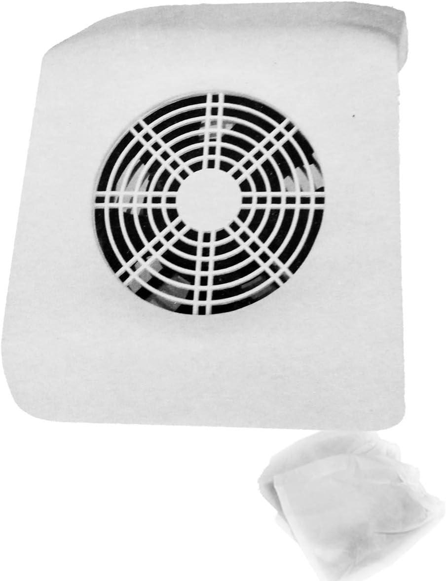 SM858-2 Aspirador profesional delgado - Blanco - 2 bolsas reutilizables - Manicura de uñas