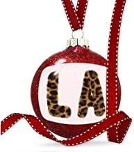 Diuangfoong Christmas Decoration LA Cheetah Cat Animal Print Ornament