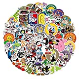 Cuphead Stickers for Car Laptop PVC Backpack Water Bottle Pad Bicycle Waterproof Decal Sticker Kids Toy /Cuphead