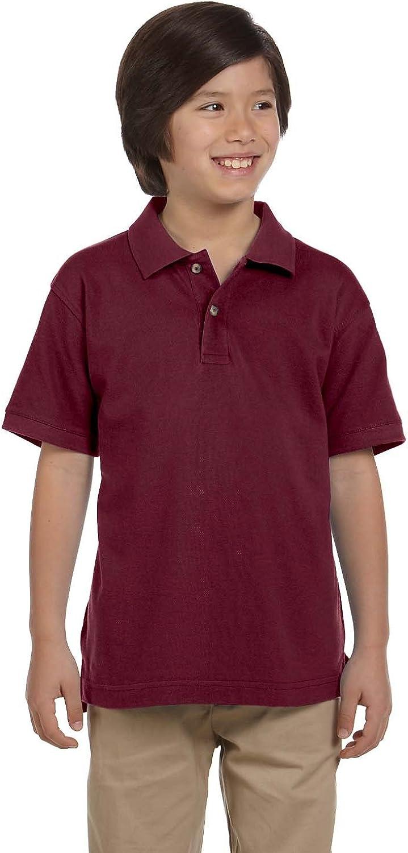 Harriton Youth Ringspun Cotton Piqué Short-Sleeve Polo