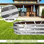 """Gadi raised garden bed kit for vegetables flower galvanized metal planter boxs designed for easy diy and cleaning not… 12 more suitable raised garden bed size and volume:67""""l x 20""""w x10""""h, 7 cu. Ft. You can cultivate plants, like vegetables, flowers, herbs in your patio, yard, garden, and greenhouse. Built to last: the raised garden bed body made of steel plates galvanized layer and 2 layers of anti-corrosion paint, strong anti-rust performance to keep your garden bed looking its best for years to come. Open-bottom garden bed: built with an open base to prevent water buildup and rot, while allowing roots easy access to nutrients. Side ventilation:side ventilation can enhance the respiration of plant roots and facilitate the removal of excess water. Keep your plants healthy!"""
