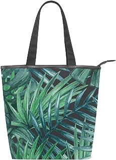 MALPLENA Malpela Schultertasche für Damen, Tropische Blätter, Grün