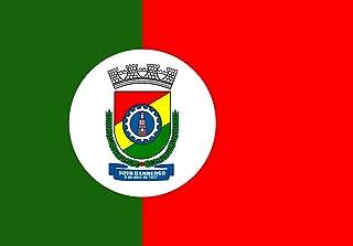 magFlags Large Flag City of Novo Hamburgo, Rio Grande do Sul, Brazil   Landscape Flag   1.35m²   14.5sqft   90x150cm   3x5ft - 100% Made in Germany - Long Lasting Outdoor Flag