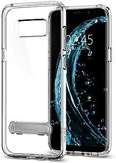 كفر سامسونج جالكسي اس8 , Galaxy S8 , شفاف صلب من الخلف , إطار  شفاف مرن, ستاند