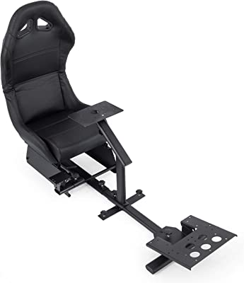 Mophorn Driving Simulator Seat Adjustable Driving Gaming Reclinable Seat with Gear Shifter Mount for PS2 PS3