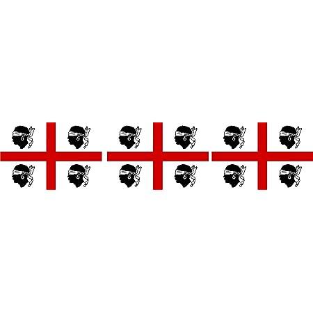 Etaia 2 5x4 Cm 3 X Mini Aufkleber Fahne Flagge Von Alt Sardinien Sardegna Europa Länder Sticker Auto Fahrrad Motorrad Bike Auch Für Dampfer E Zigarette Sisha Auto
