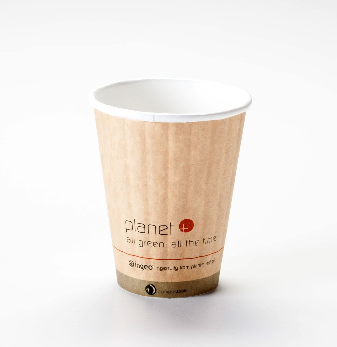8 Oz. Biodegradable Hot Drink Cup Heat Boston Mall Lined PLA Built-in Los Angeles Mall Sleeve